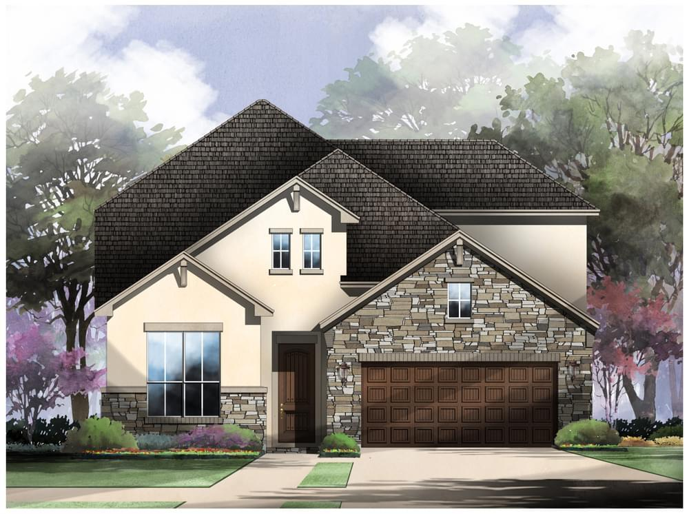 Exterior featured in the Todd : 50-2930F.1 By Monticello Homes in San Antonio, TX