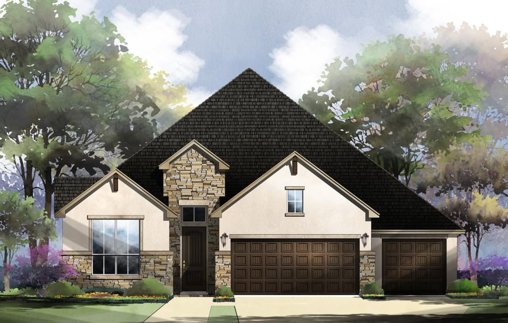 Exterior featured in the Franklin : 60-2875F.1 By Monticello Homes in San Antonio, TX