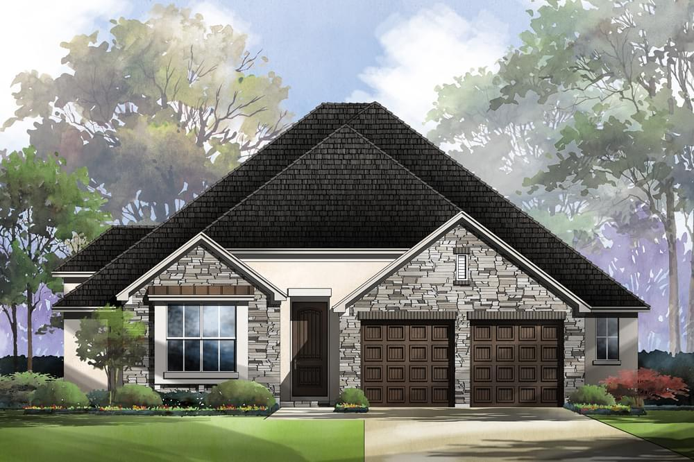Exterior featured in the Gibbon : 55-2370F.1 By Monticello Homes in San Antonio, TX