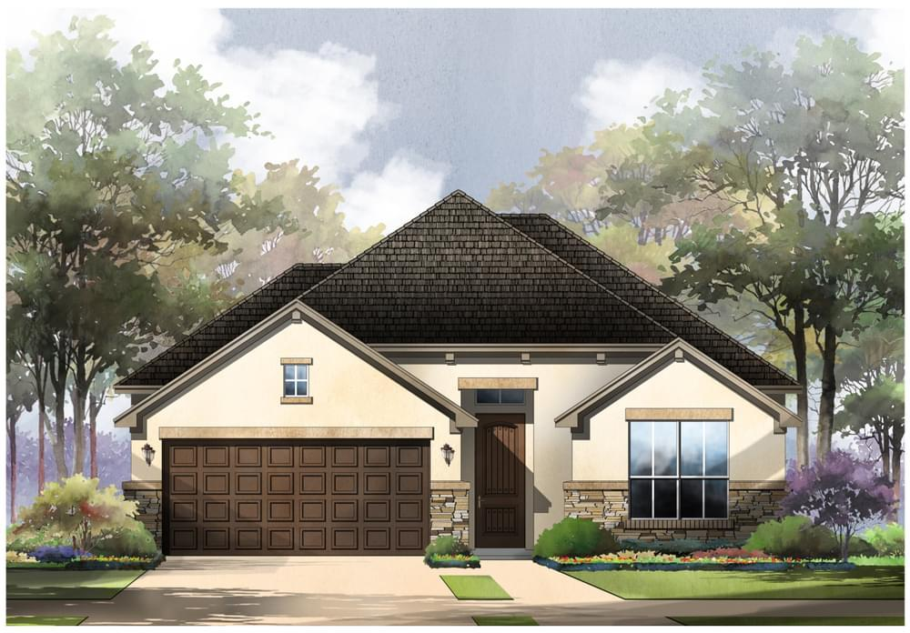 Exterior featured in the Locke : 50-2265F.1 By Monticello Homes in San Antonio, TX