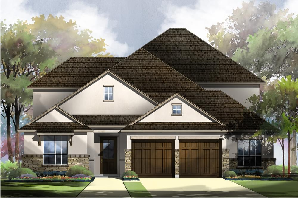 Exterior featured in the 65-3491F.1 - Potomac By Monticello Homes in Austin, TX