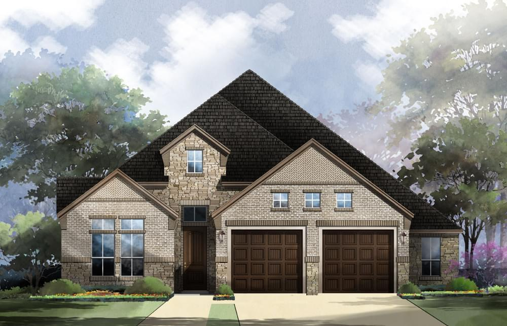 Exterior featured in the Franklin : 60-2875F.1 By Monticello Homes in Austin, TX