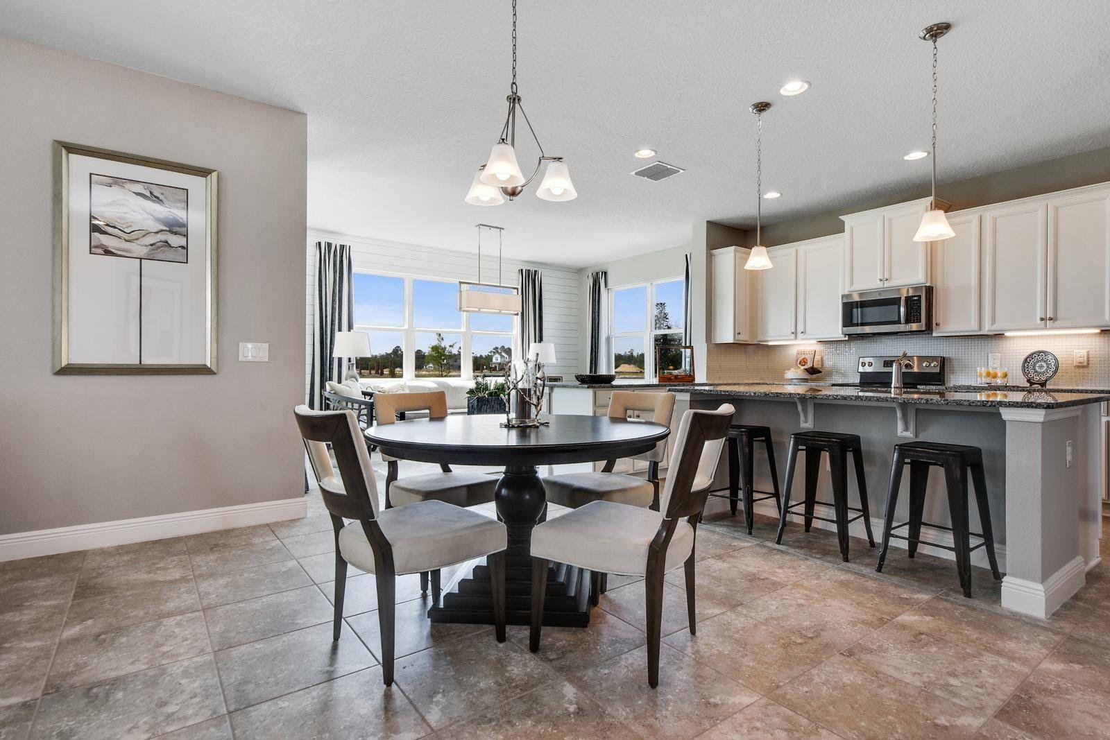 Breakfast-Room-in-Santa Rosa-at-Cypress Preserve Single Family Homes-in-Land O' Lakes
