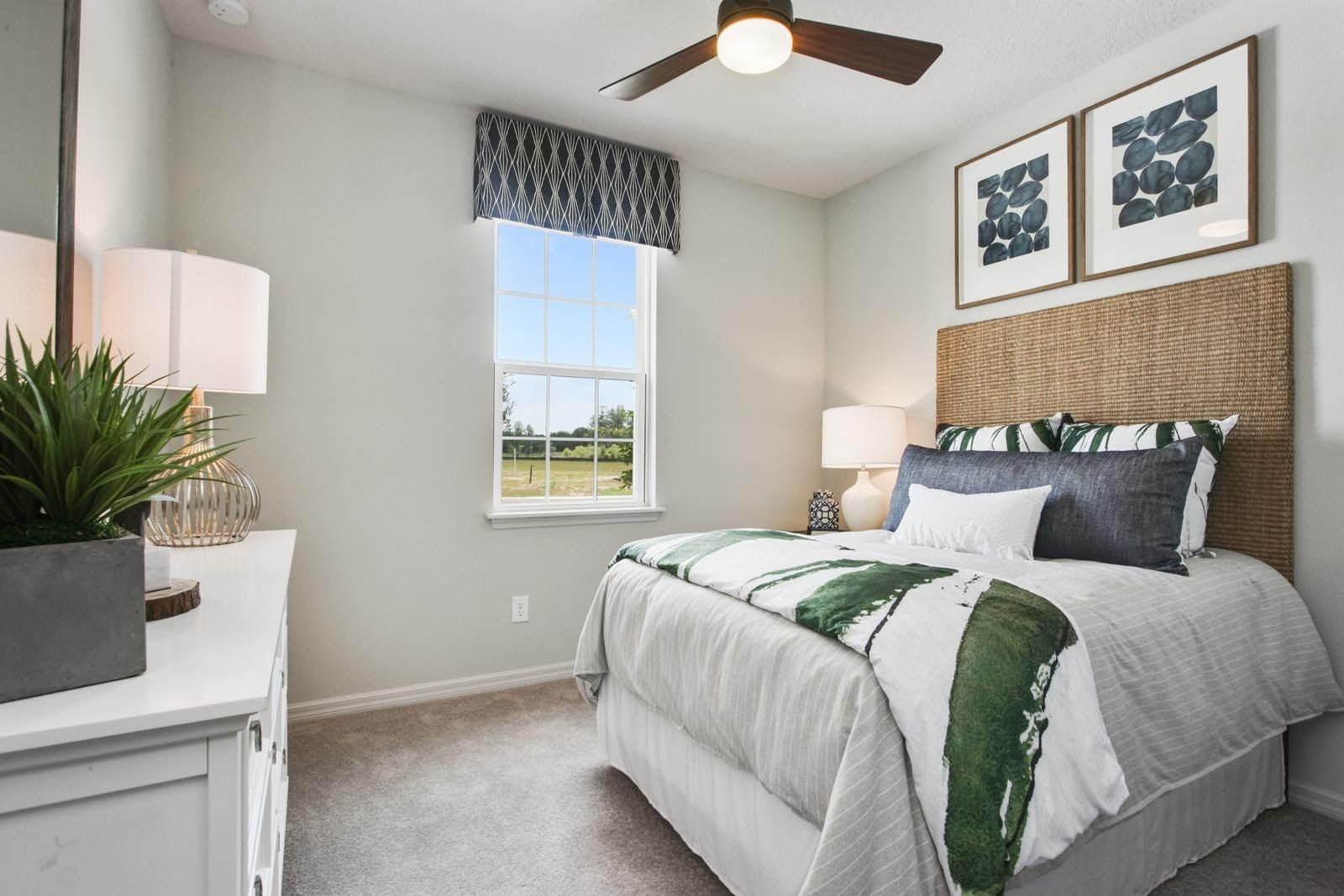 Bedroom-in-Magnolia-Woodland-at-Cypress Preserve Villas-in-Land O' Lakes