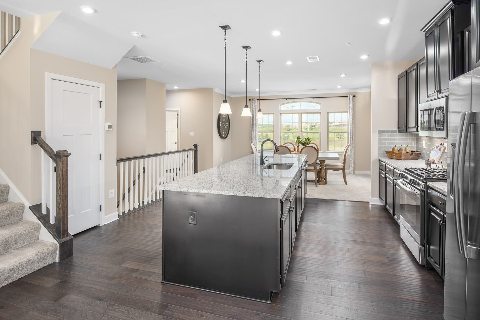 Kitchen-in-Picasso-at-Oakdale Village Garage Townhome Condominiums-in-Ijamsville
