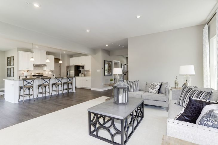 Open Spaces  - Great Square Footage Value:Enjoy great spaces with your kitchen, dining and living area in one large open area–never miss the action! Click here to visit the model home.