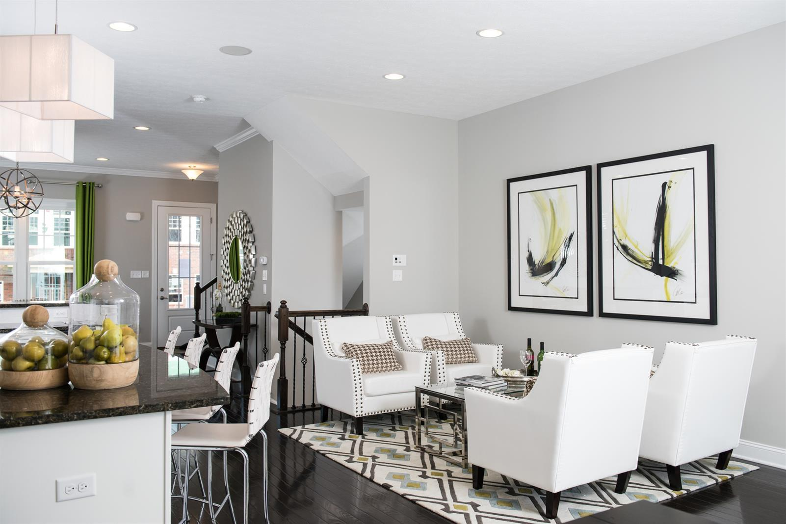 Greatroom-and-Dining-in-Schubert-at-Silver Summit Townhomes-in-McKees Rocks