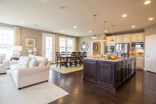 Greatroom-and-Dining-in-Marymount-at-The Bluffs at Falling Water Single Family Homes-in-Morgantown
