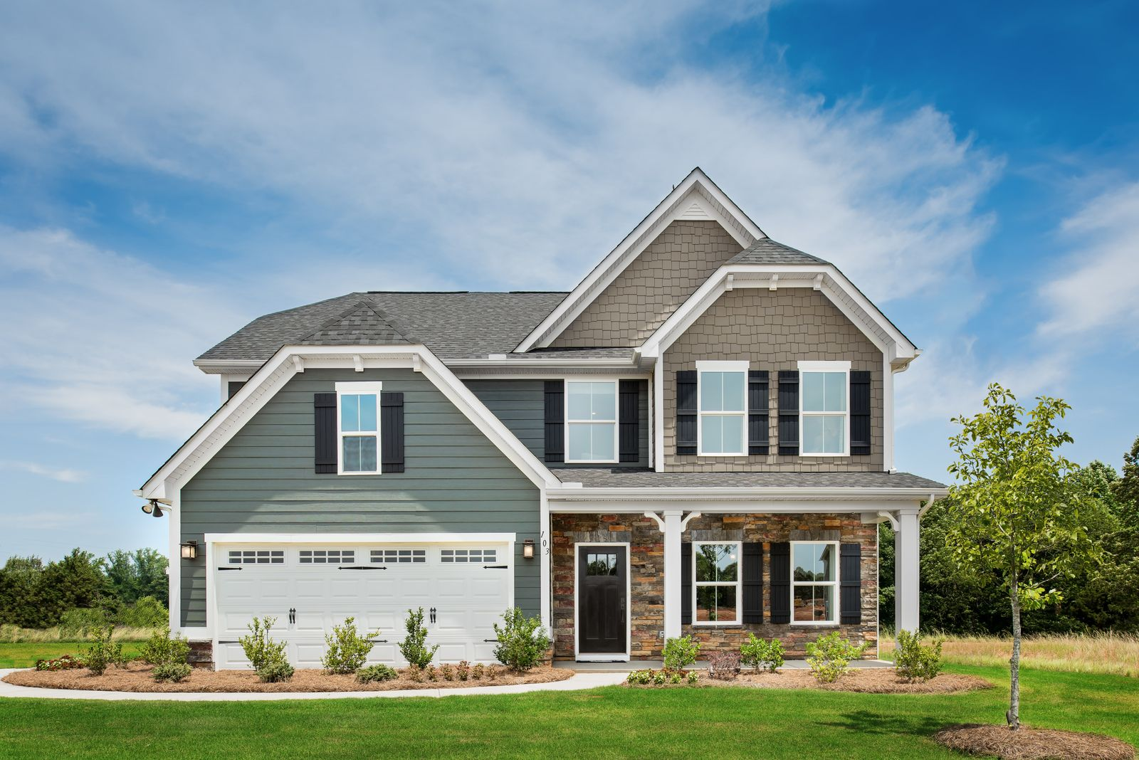 Exterior featured in the Genoa By Ryan Homes in Greenville-Spartanburg, SC
