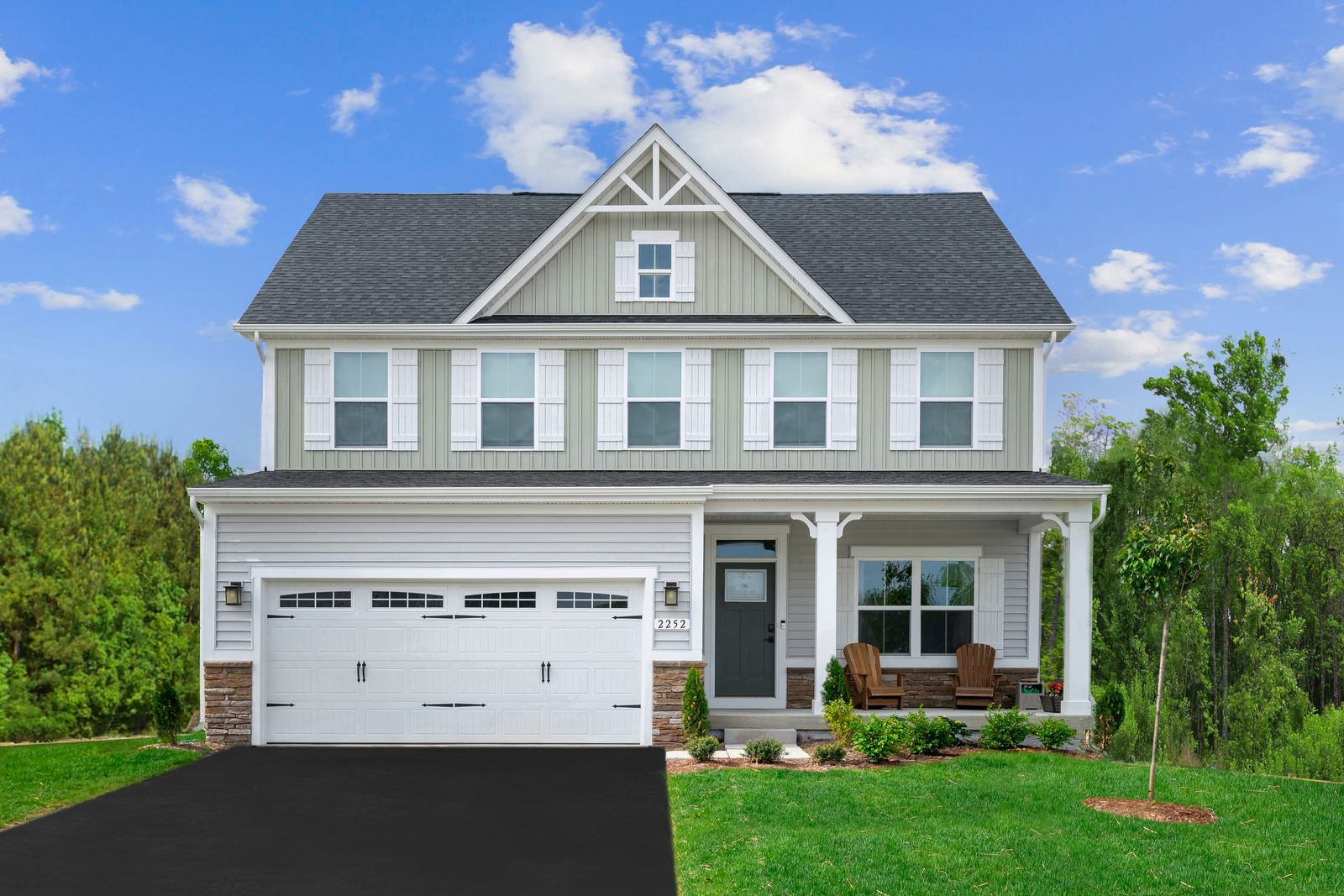 Exterior featured in the Columbia By Ryan Homes in Washington, VA