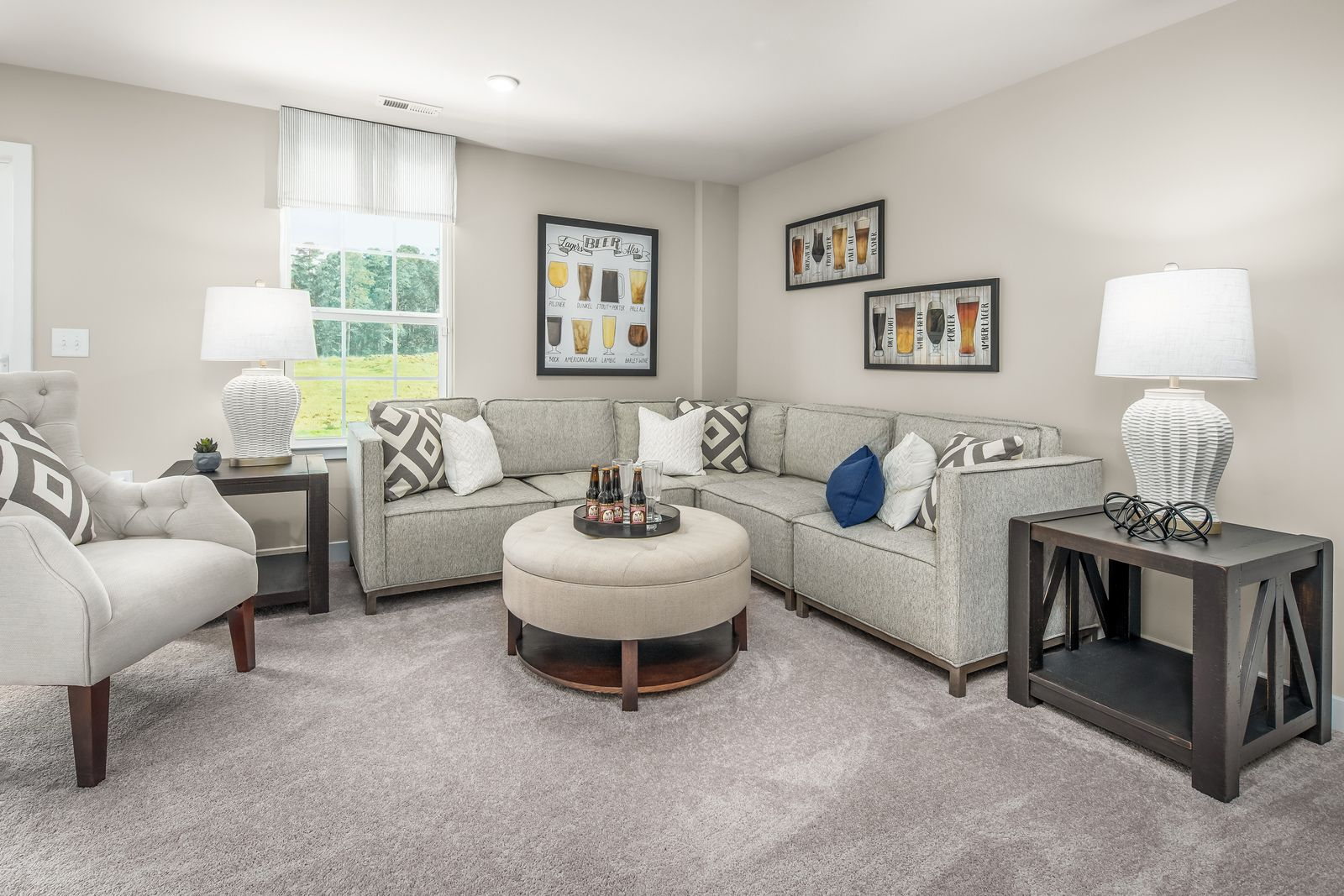 Living Area featured in the Mendelssohn Front Entry Garage By Ryan Homes