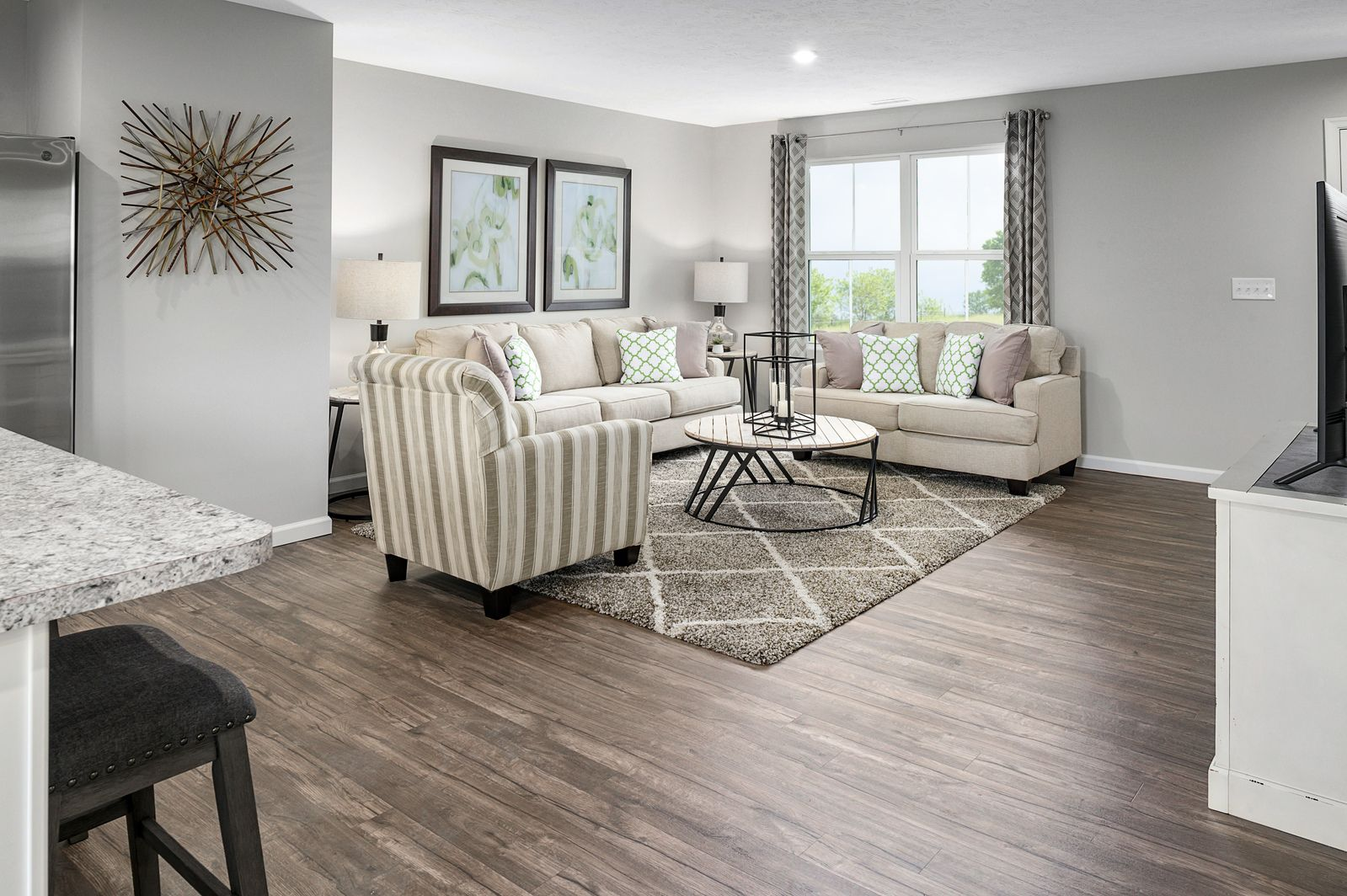Living Area featured in the Cedar By Ryan Homes in Chicago, IL