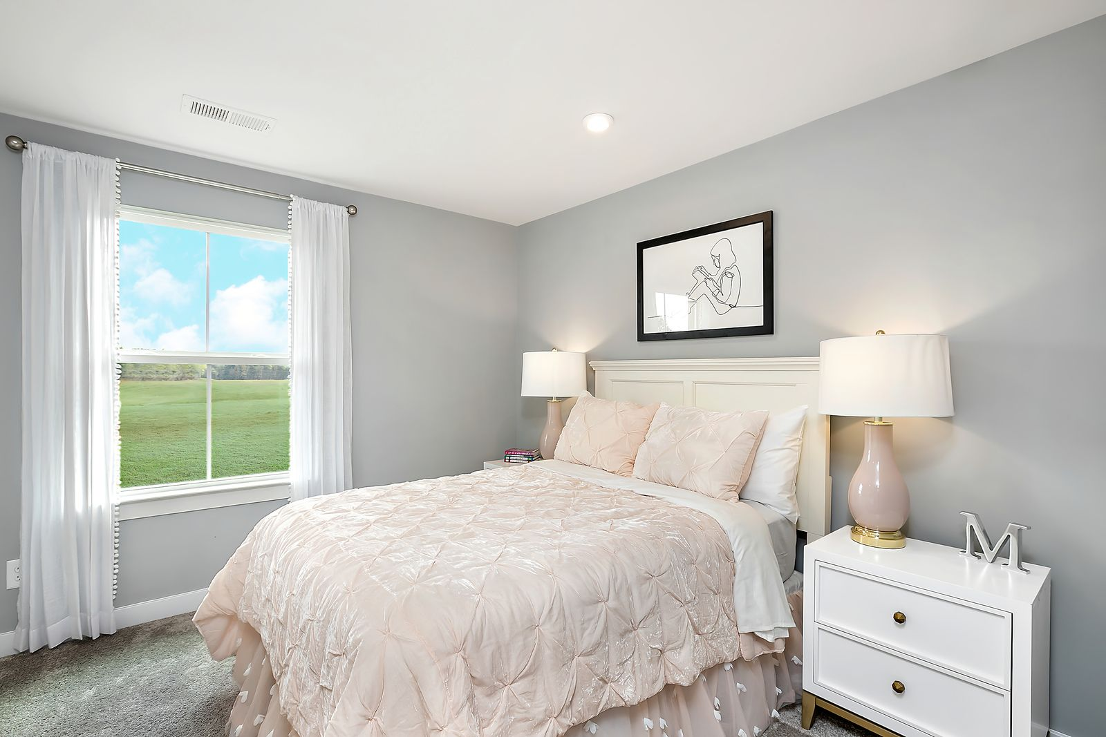 Bedroom featured in the Bramante Ranch Slab - Basement Available By Ryan Homes in Chicago, IL