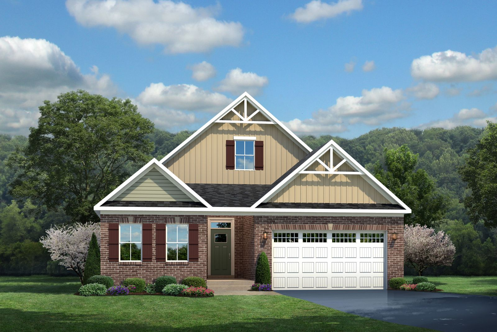Exterior featured in the Palladio Ranch By Ryan Homes in Greenville-Spartanburg, SC