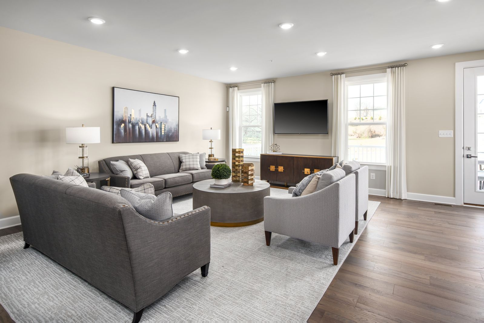 Living Area featured in the Northshire By HeartlandHomes in Pittsburgh, PA