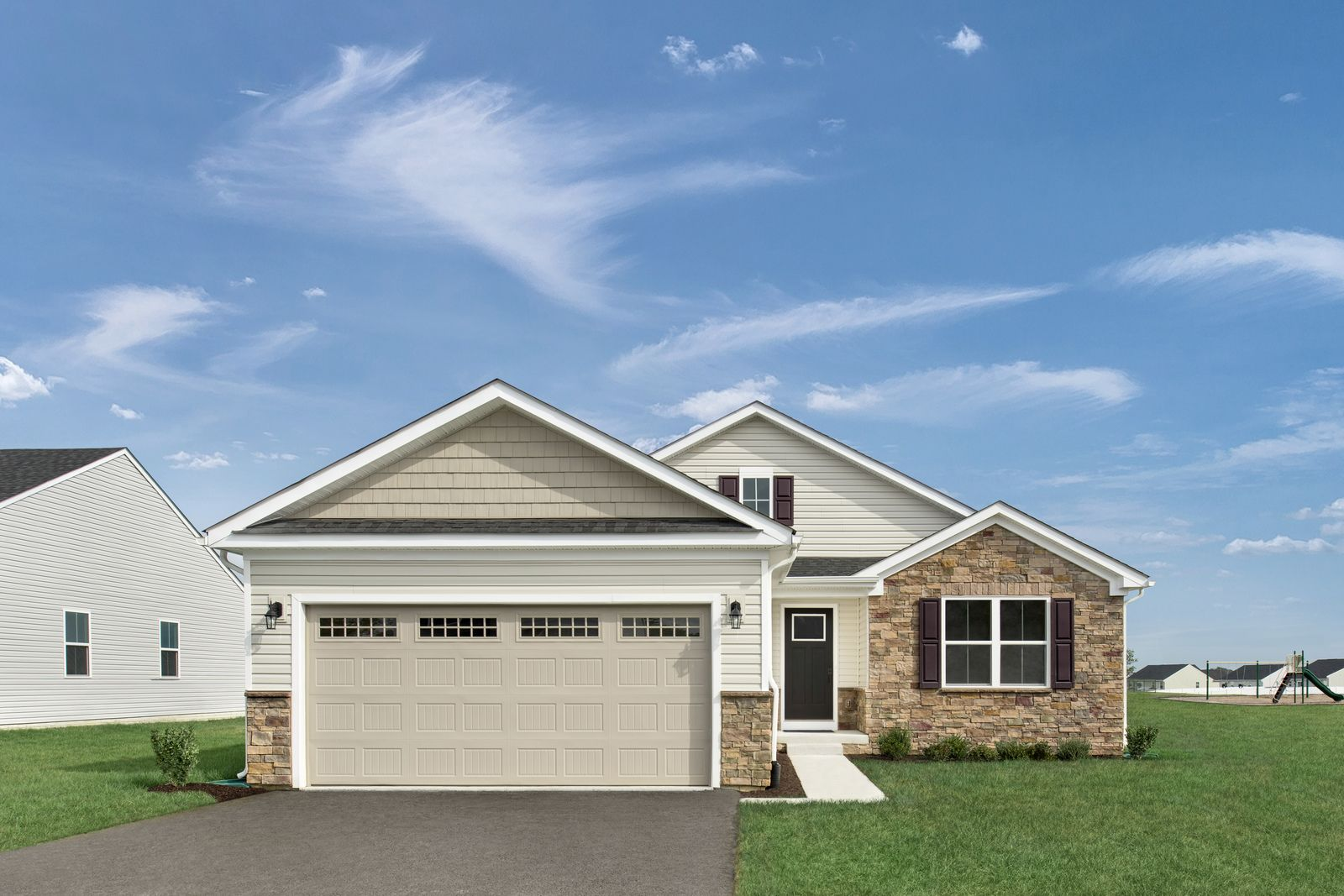 Exterior featured in the Dominica Spring By Ryan Homes in Dover, DE