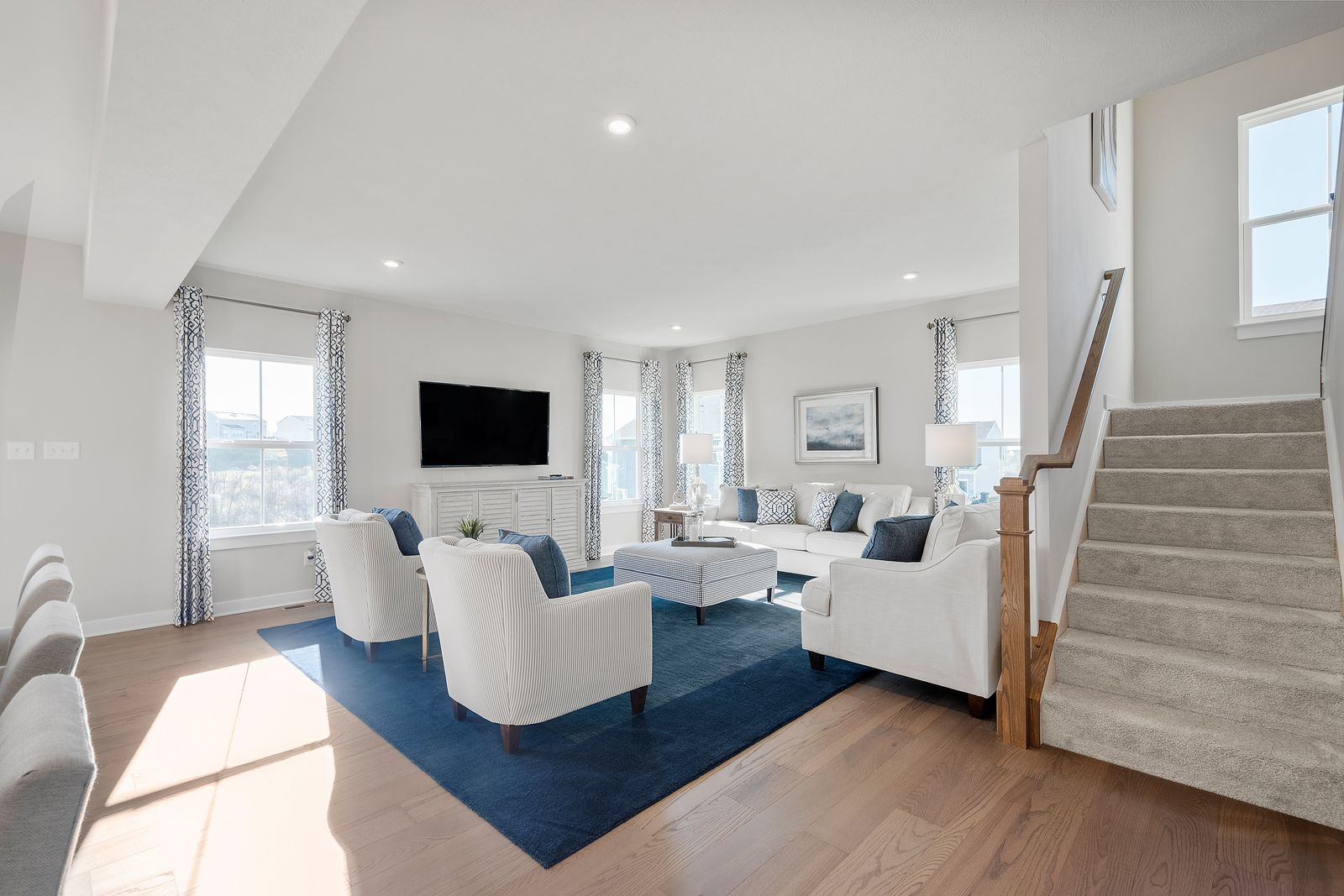 Living Area featured in the Columbia w/ Optional Finished Basement By Ryan Homes in Chicago, IL