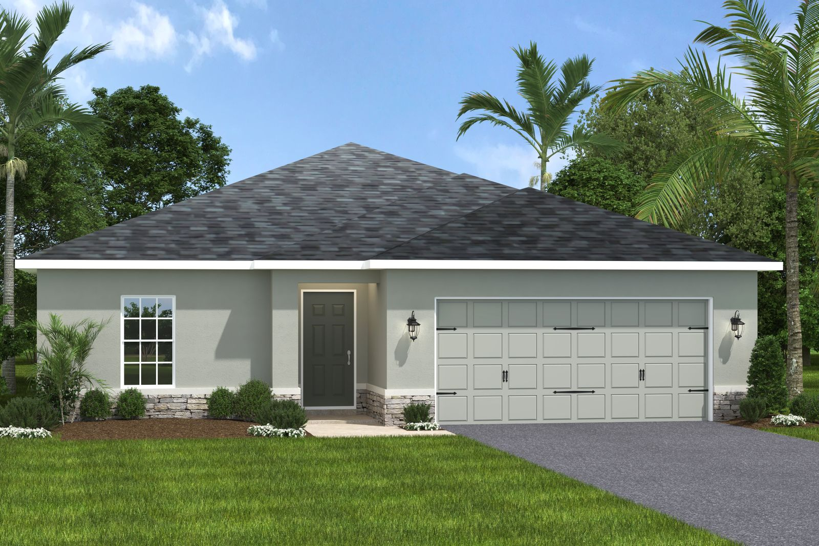 Exterior featured in the Palm By Ryan Homes in Lakeland-Winter Haven, FL