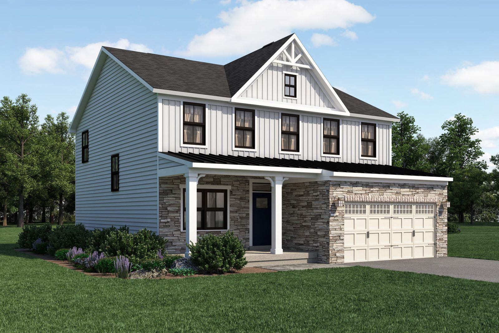 Exterior featured in the Columbia By Ryan Homes in Columbia, SC