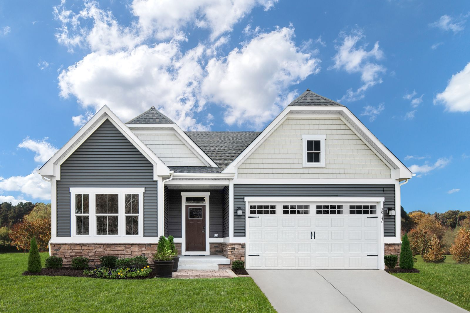 Exterior featured in the Bramante 2 Story By Ryan Homes in Sussex, DE