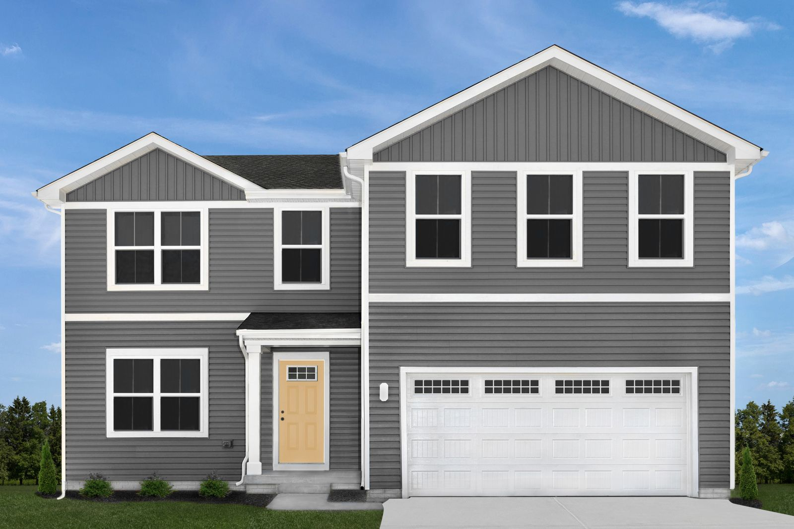 Exterior featured in the Elm By Ryan Homes in Akron, OH