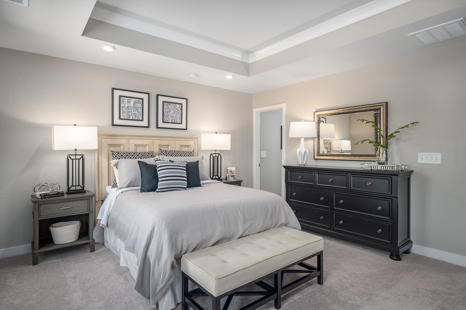 Bedroom featured in the Roxbury w/Extension & Finished basement By Ryan Homes in Akron, OH