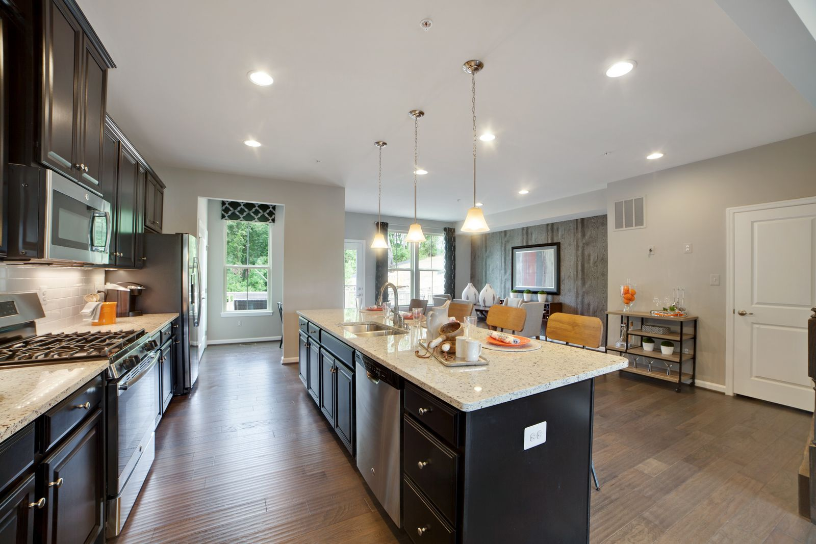 Kitchen-in-McPherson-at-Pondview Townhomes-in-Millersville