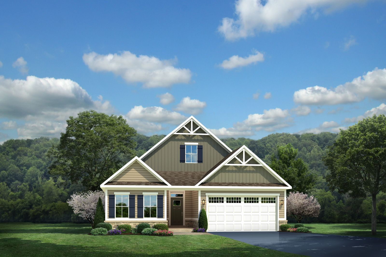 Exterior featured in the Palladio By Ryan Homes in Warren County, NJ