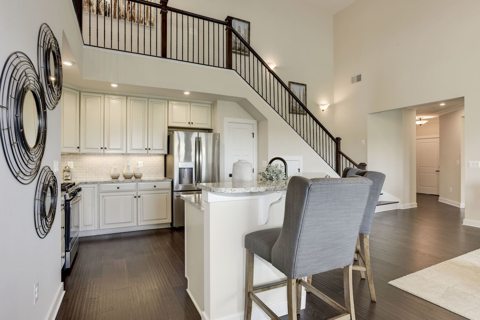 Kitchen-in-Chambord with Garage-at-Ellicott's Retreat – 55+ Active Adult Garage Condos-in-Ellicott City
