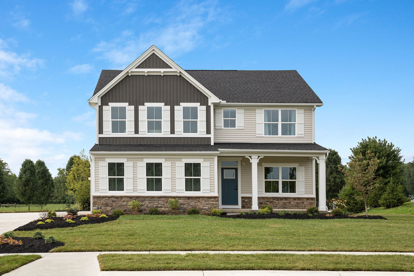 Exterior featured in the Hudson By Ryan Homes in Indianapolis, IN