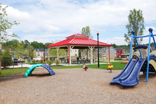 """enjoy the outdoors:Creekside's spacious pavilion and play area is a short walk from our wooded lots – bring the kids and test it out for yourself today!"""""""