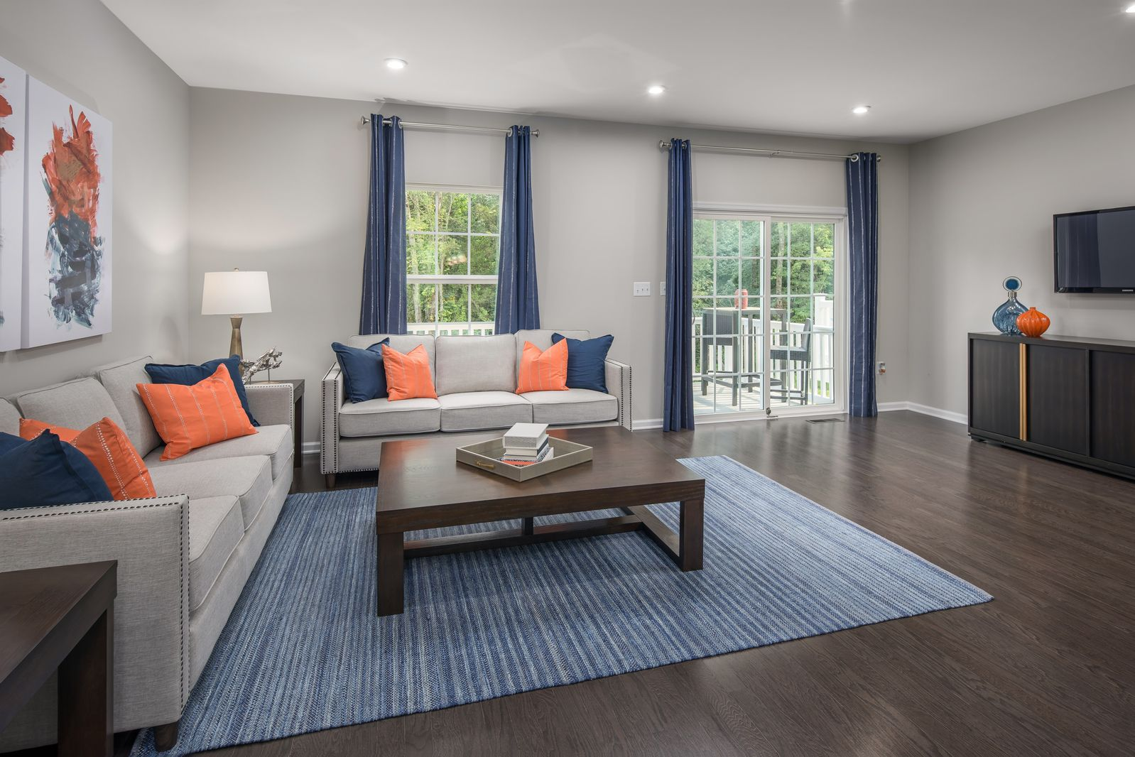 Greatroom-and-Dining-in-Schubert Rear Car Garage-at-Avery Place-in-Laurel