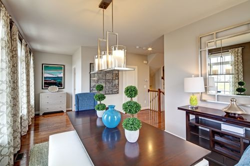 Greatroom-and-Dining-in-Andrew Carnegie Grande Rear Entry-at-Atwater Townhomes-in-Malvern
