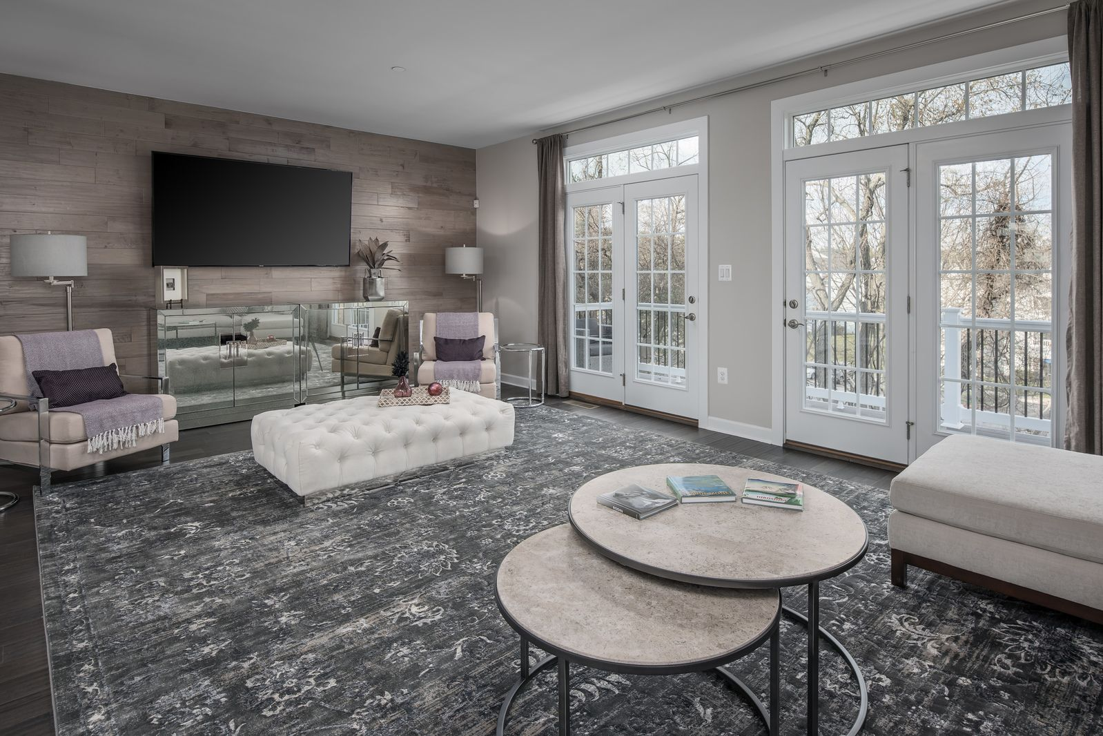 Media-Room-in-Andrew Carnegie Rear Entry-at-Atwater Townhomes-in-Malvern