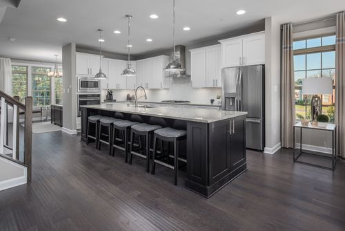 Kitchen-in-Andrew Carnegie Rear Entry-at-Atwater Townhomes-in-Malvern