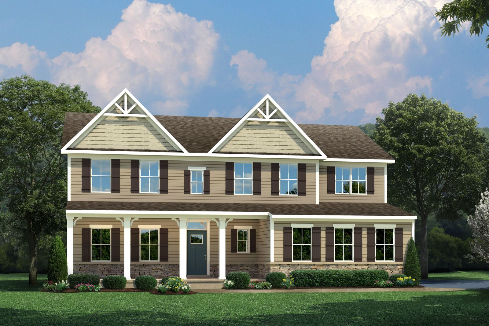 Exterior featured in the Saint Lawrence By Ryan Homes in Philadelphia, PA
