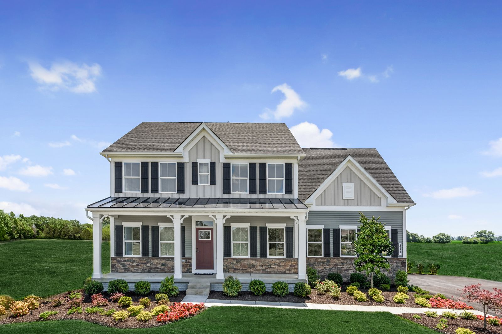Exterior featured in the Powell By Ryan Homes in Richmond-Petersburg, VA
