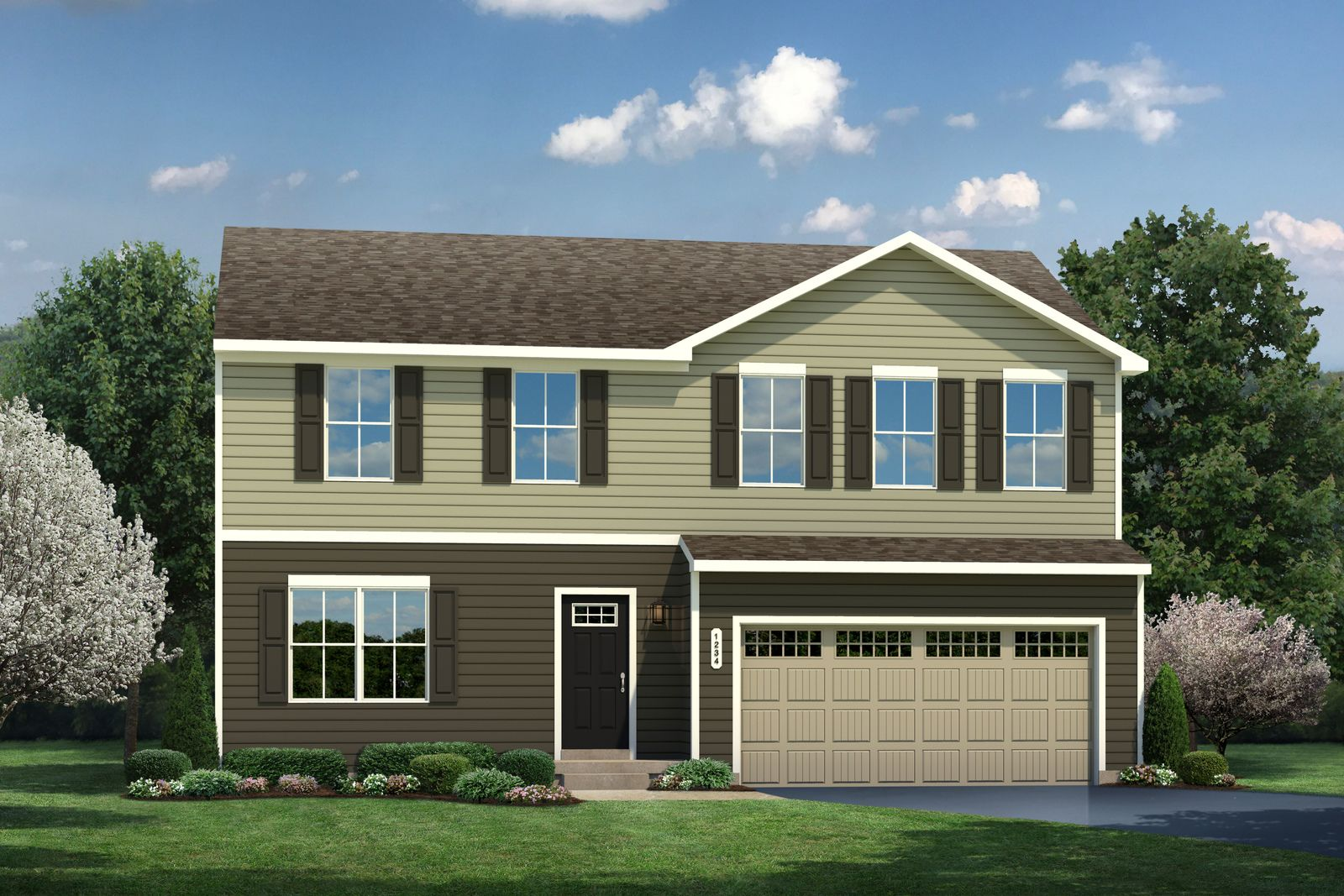 Exterior featured in the Cedar By Ryan Homes in Buffalo-Niagara Falls, NY
