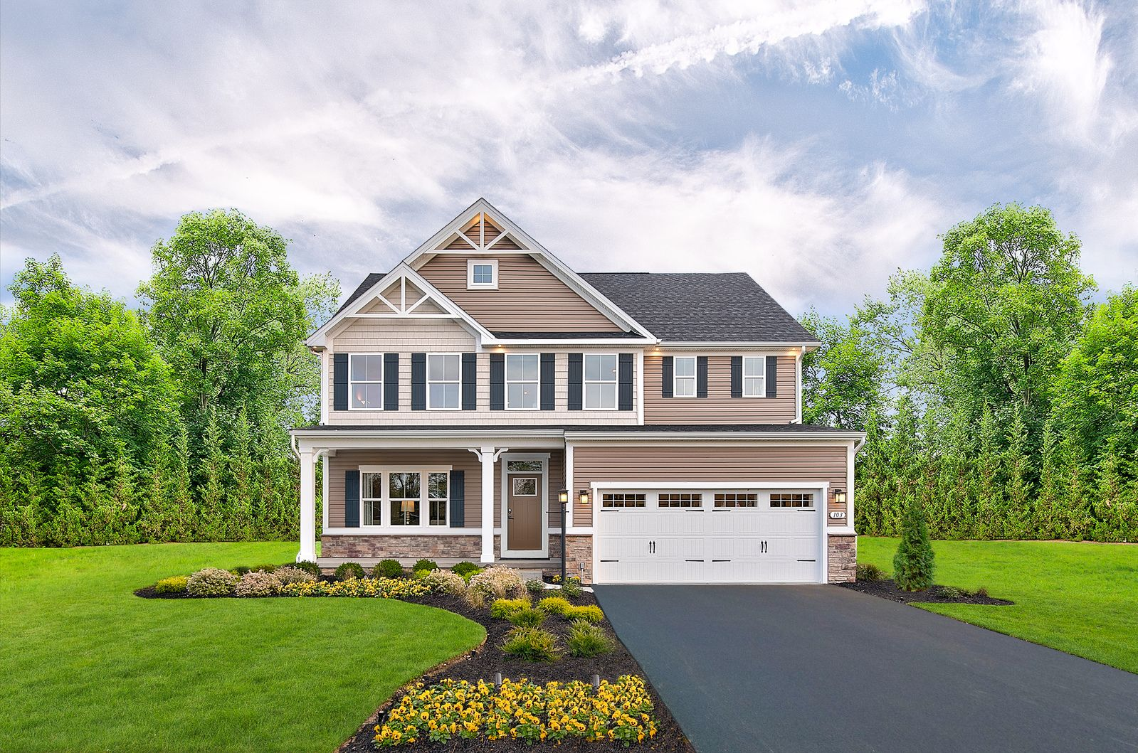 Exterior featured in the Lehigh By Ryan Homes in York, PA