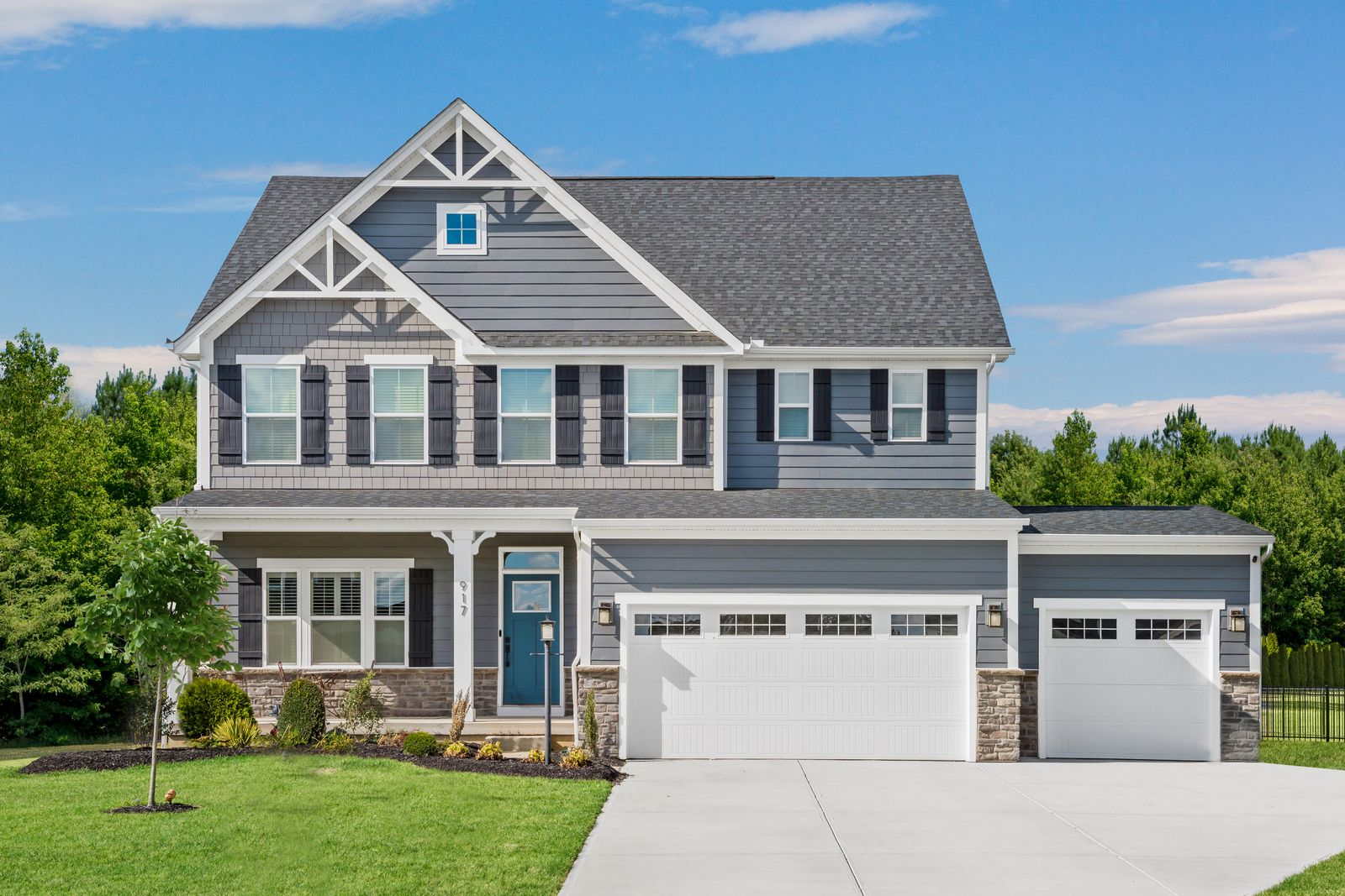 Exterior featured in the Lehigh 3 Car Garage By Ryan Homes in Baltimore, MD