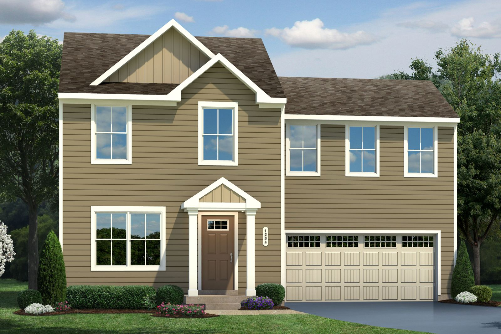Exterior featured in the Birch By Ryan Homes in Washington, VA