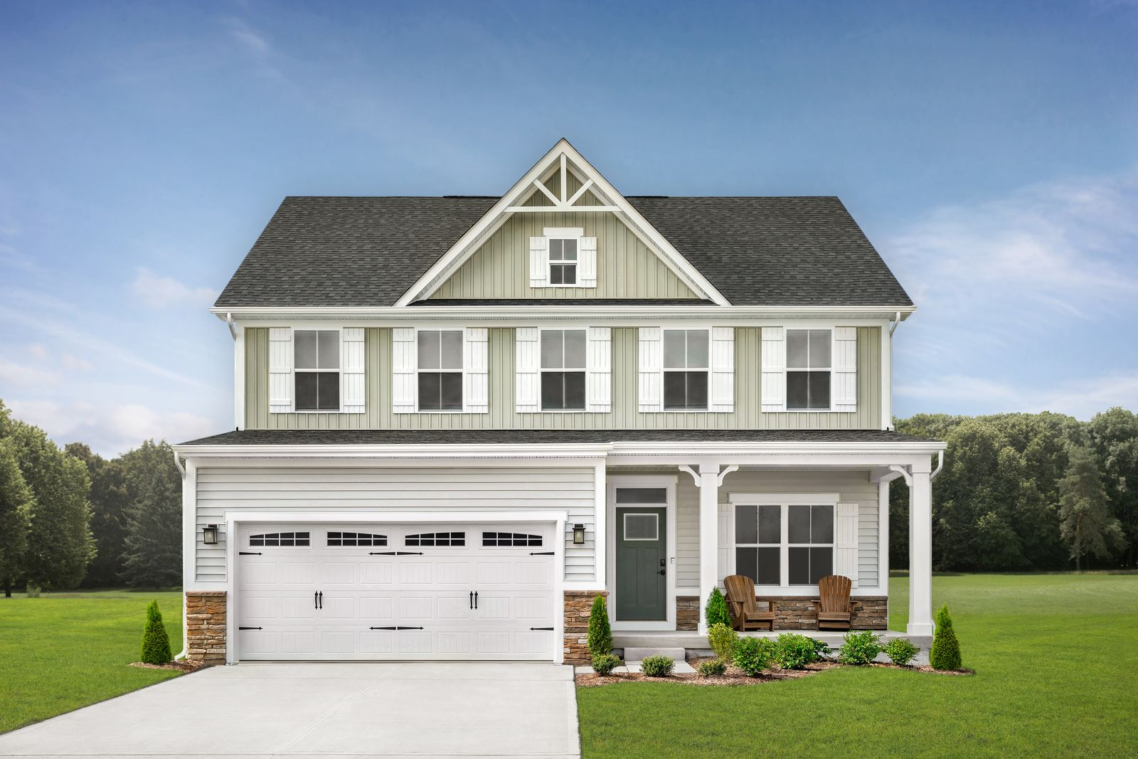Exterior featured in the Columbia By Ryan Homes in Cleveland, OH