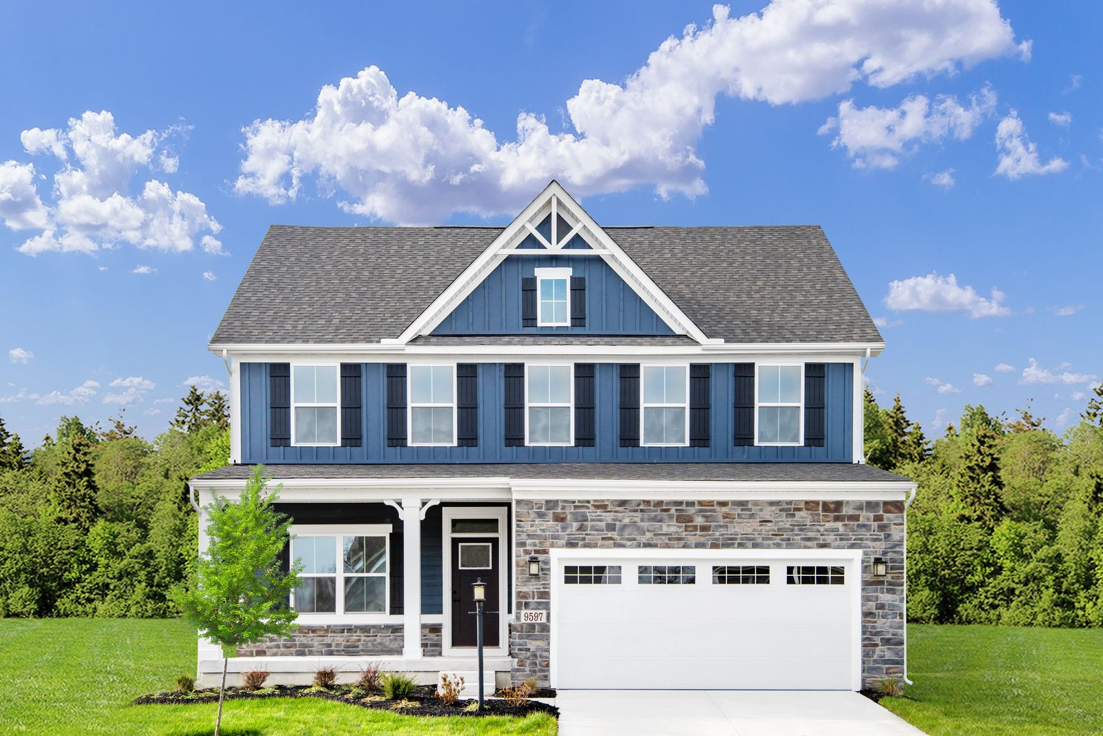Exterior featured in the Columbia By Ryan Homes in Rochester, NY