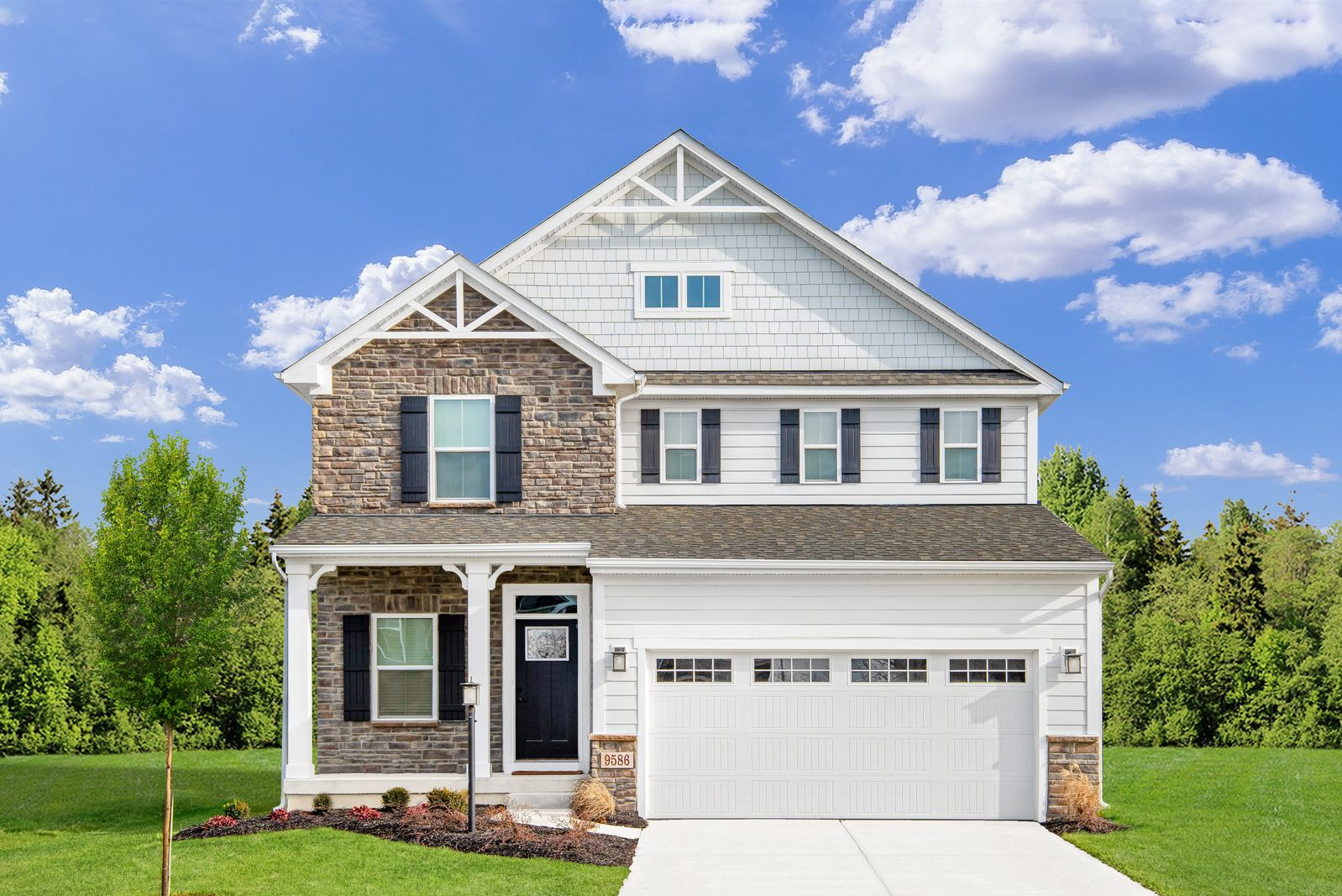 Exterior featured in the Allegheny By Ryan Homes in Charlotte, NC