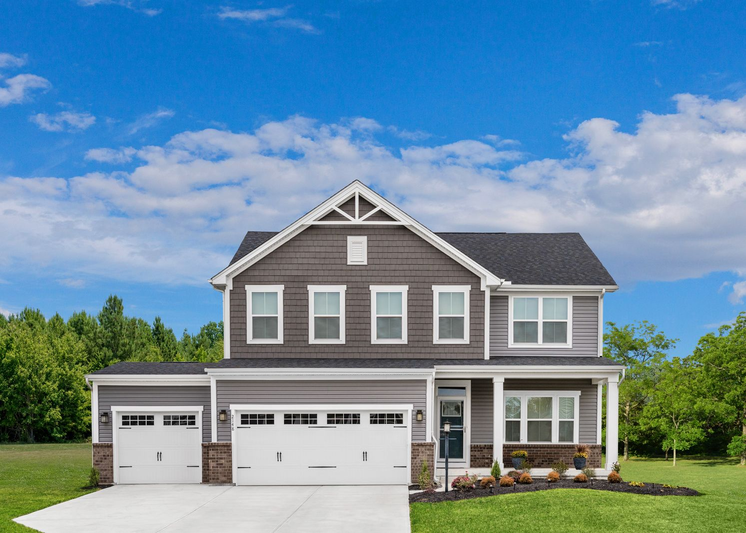 Exterior featured in the Hudson 3 Car Garage By Ryan Homes in Baltimore, MD