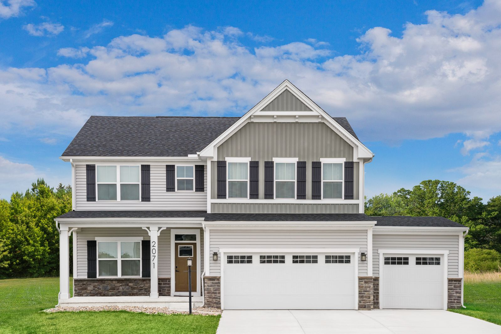 Exterior featured in the Hudson By Ryan Homes in York, PA