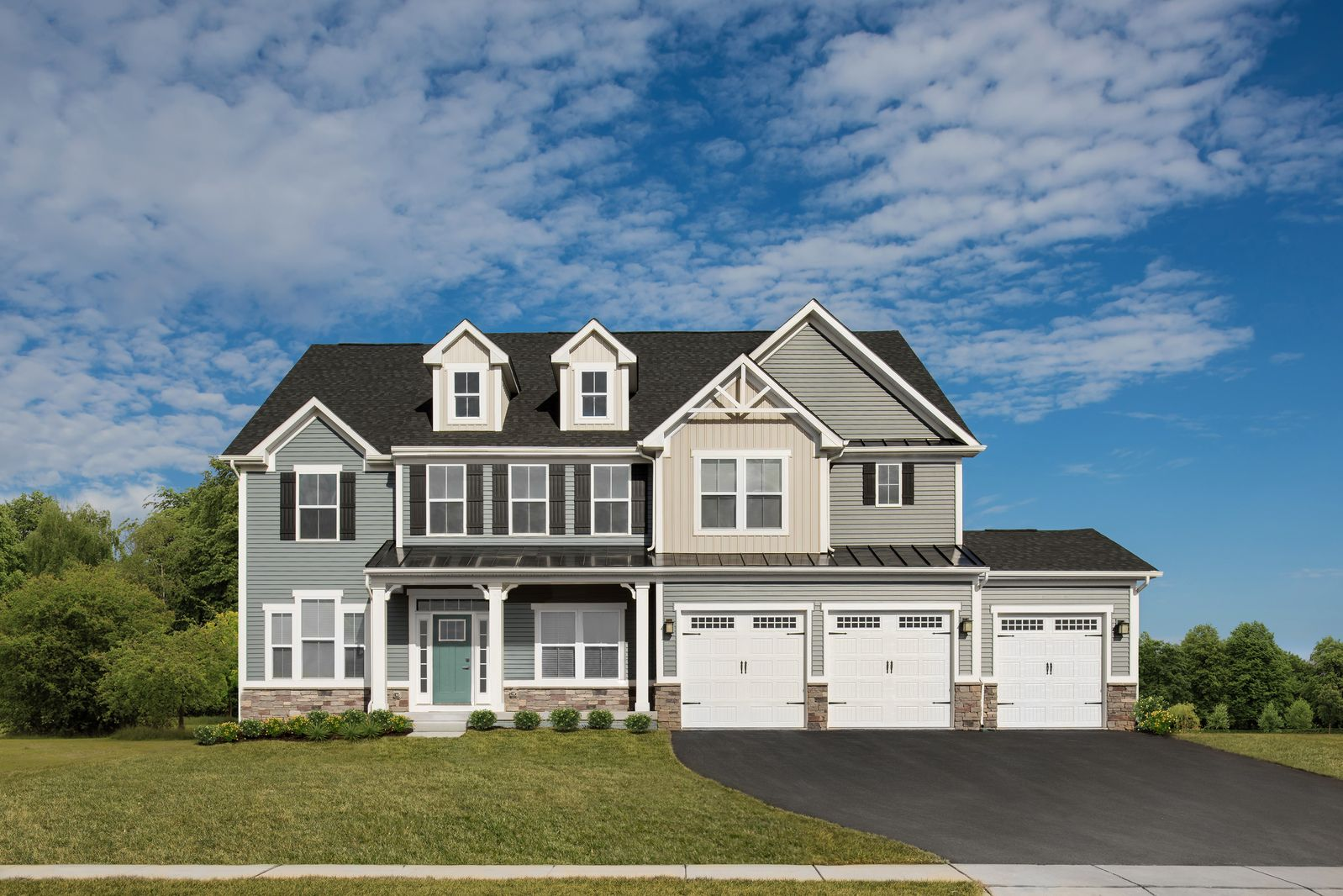 Exterior featured in the Versailles By Ryan Homes in Richmond-Petersburg, VA