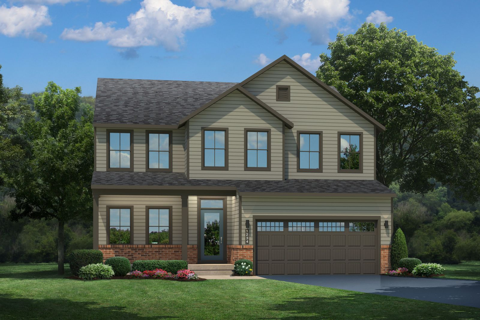 Exterior featured in the Hudson By Ryan Homes in Washington, VA