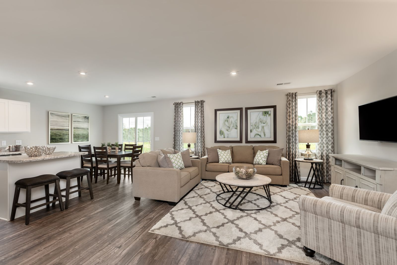 Living Area featured in the Spruce w/ Included Basement By Ryan Homes in Cincinnati, OH