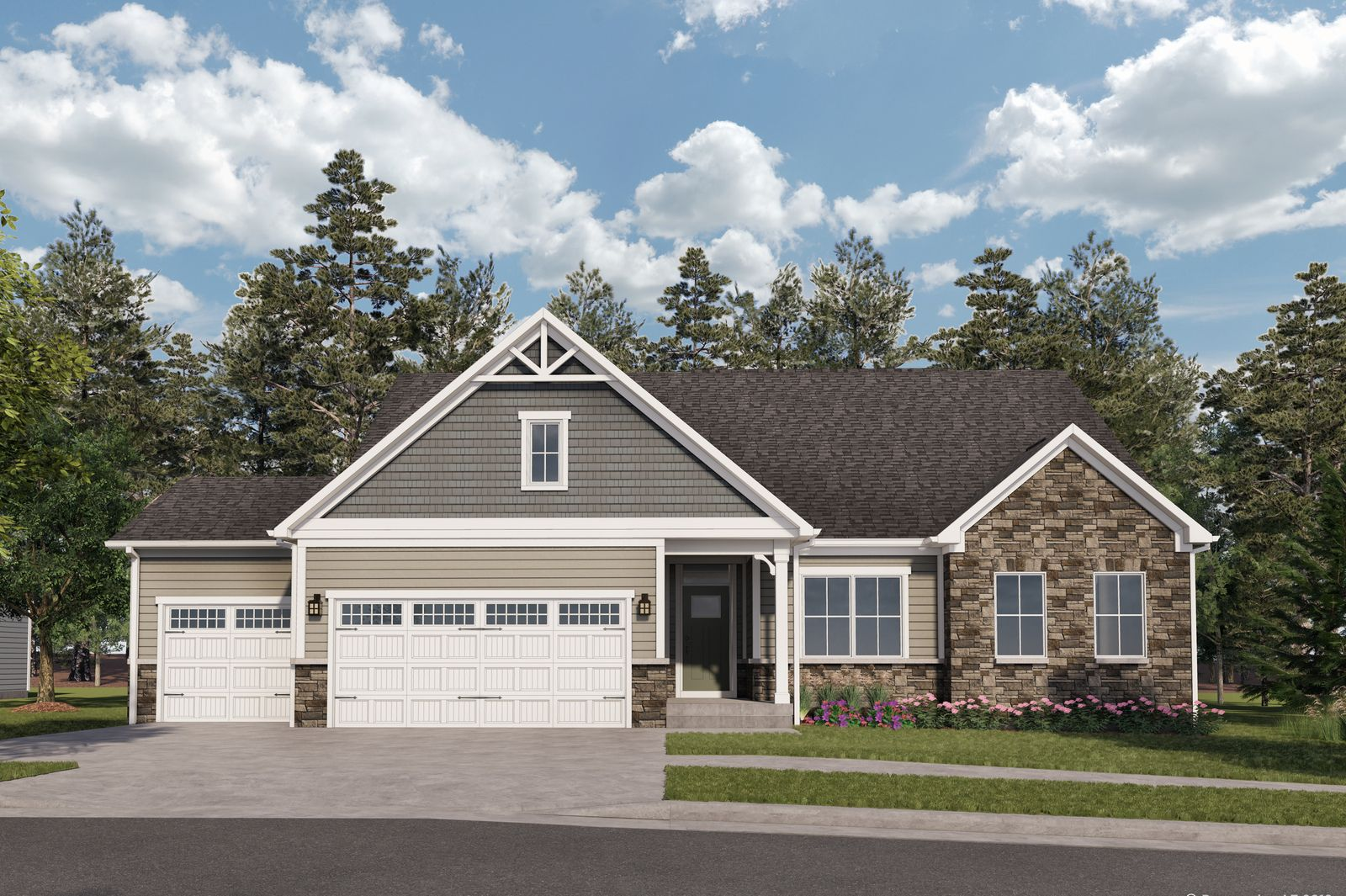 Exterior featured in the Cumberland By Ryan Homes in Cleveland, OH